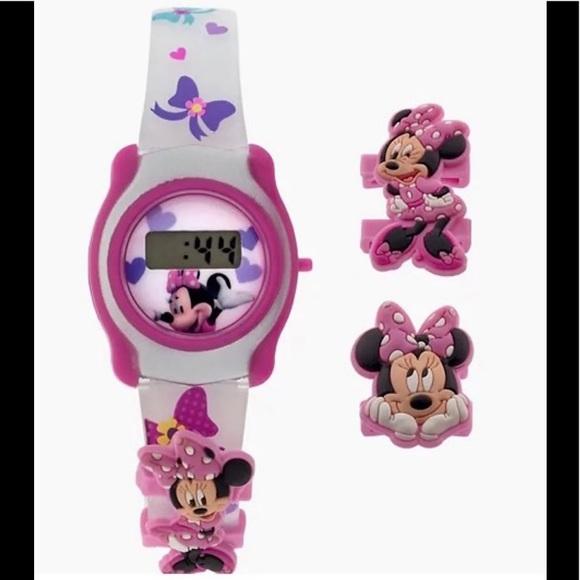 Disney Minnie Mouse Kids Digital Watch Set